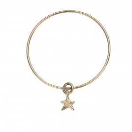 Gold Mini Star Stack Bangle