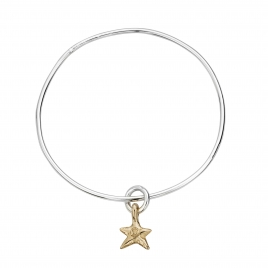 Silver & Gold Mini Star Stack Bangle