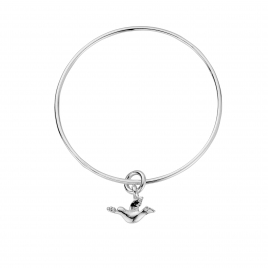 Silver Mini Turtle Dove Bangle