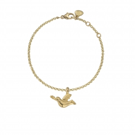 Gold Mini Turtle Dove Chain Bracelet