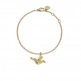 Gold Mini Turtle Dove Chain Bracelet