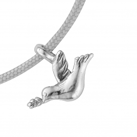 Silver Mini Turtle Dove Sailing Rope detailed