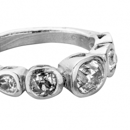 MONT BLANC Platinum Diamond Ring detailed