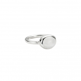 Silver Moonstone Baby Treasure Ring