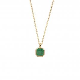 NATALIA Gold Emerald Necklace