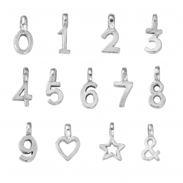 Silver Mini Alphabet Symbol detailed