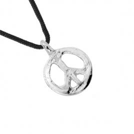 Medium Peace Sailing Rope Necklace detailed