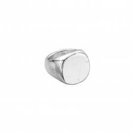 Silver Pebble Signet Ring