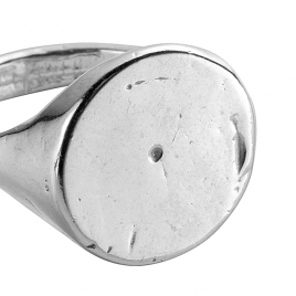 Silver Roman Signet Ring detailed