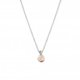 Silver Rose Quartz Baby Treasure Necklace
