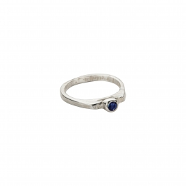Silver Sapphire Promise Ring