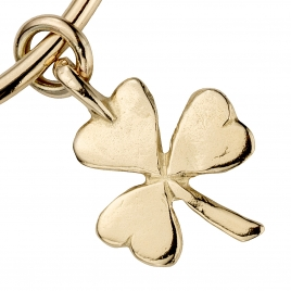 Gold Large Shamrock Bangle detailed