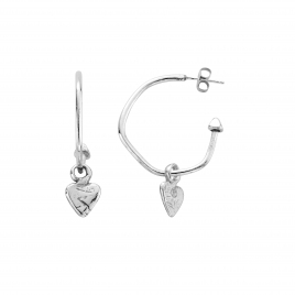 Maxi Cupid Hoops with Baby Heart Charms detailed