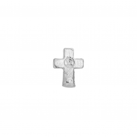 Silver Little Cross Single Ear Charm
