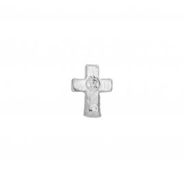 Silver Little Cross Single Ear Charm
