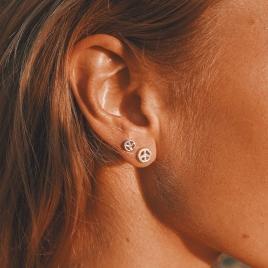 Silver Little Peace Single Ear Charm detailed