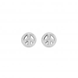 Silver Little Peace Ear Charm Set