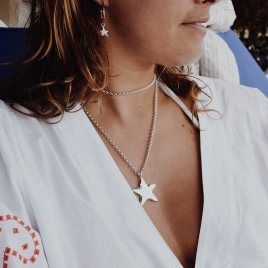 Silver Maxi Star Necklace detailed