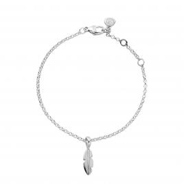Silver Mini Feather Chain Bracelet