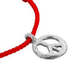 Silver Midi Peace Sailing Rope detailed
