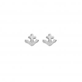 Silver Tiny Anchor Ear Charm Set