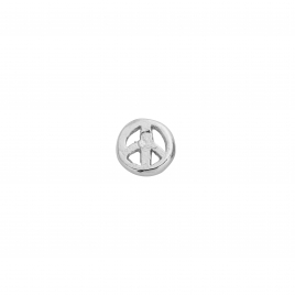 Silver Tiny Peace Single Ear Charm