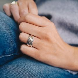 Platinum Simple Wedding Band detailed