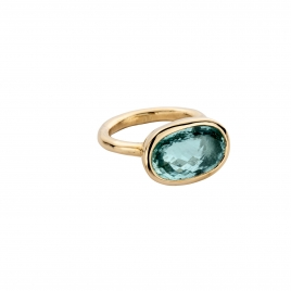 SKORPIOS Gold Aquamarine Ring