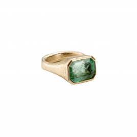 AEGEUS Gold Emerald Ring