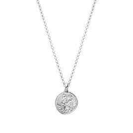Silver Medium St Christopher Necklace