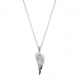 Silver Midi Angel Wing Necklace