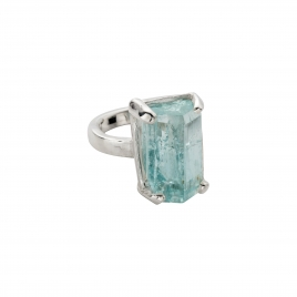 AURA Aquamarine Claw Ring