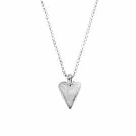 Silver Midi Heart Necklace