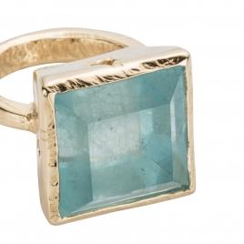THETIS Aquamarine Gold Ring detailed