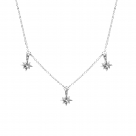 Silver Three Baby North Star Necklace