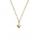 Gold Grateful Heart Trace Chain Necklace