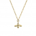 Gold Large Honey Bee Trace Chain Necklace