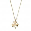 Gold Large Shamrock Necklace