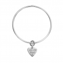 Silver Medium You Are Loved Bangle