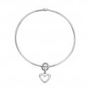 Silver Mini Open Heart Bangle