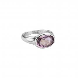 Silver Amethyst Treasure Ring