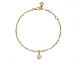 Gold Baby North Star Chain Bracelet