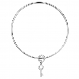 Silver Mini Dreamer's Key Bangle