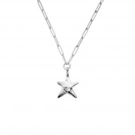 Silver Midi Star Trace Chain Necklace
