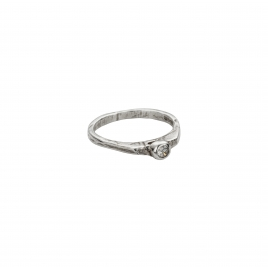 Silver Diamond Promise Ring
