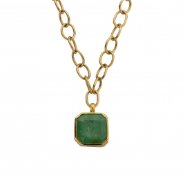 ELPIDA Emerald Gold Necklace