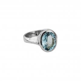 EOS Aquamarine Silver Ring