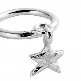 Silver Falling Star Ring detailed
