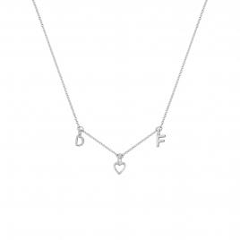 Silver Fixed Alphabet Necklace