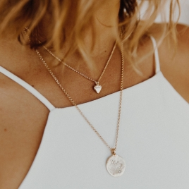 Gold Baby Heart Necklace detailed